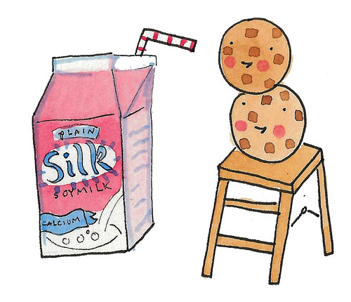Cookies and soy milk