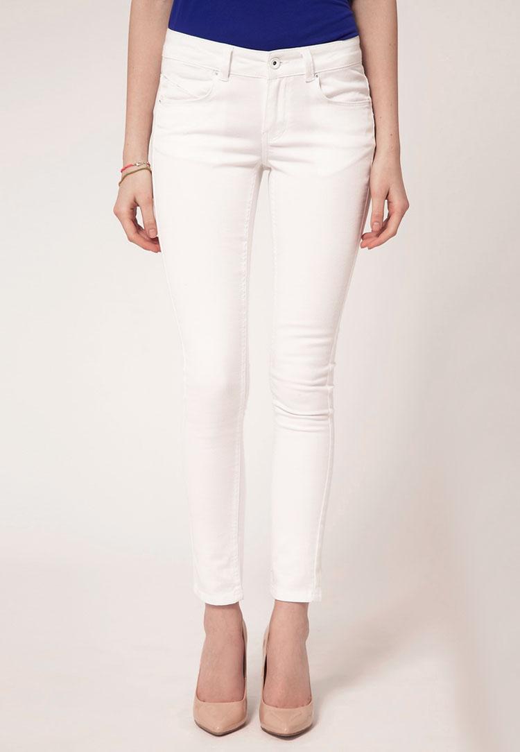 ASOS PETITE White Skinny Jeans #4