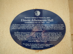 Photo of Elmore Athenaeum Hall blue plaque