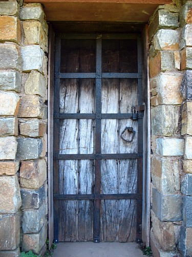 old door to garden house