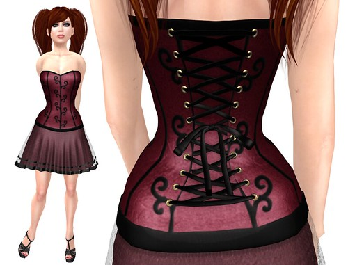 Lassitude & Ennui Gothic Doll Corset Dress Detail