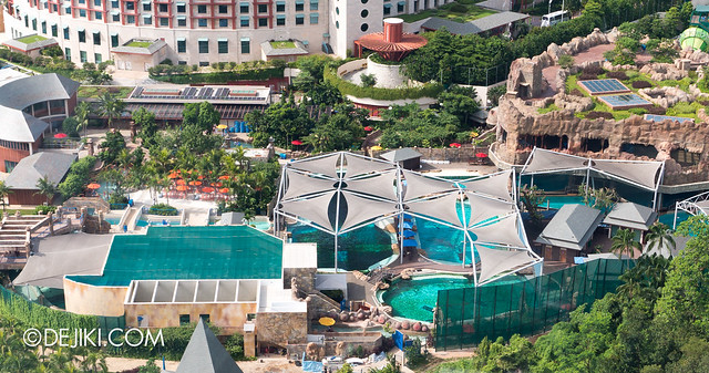 Marine Life Park Singapore - from the air May 2013 - Dolphin island