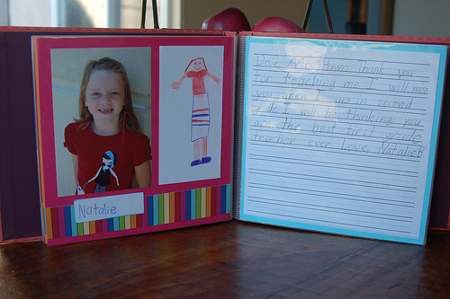 teacher appreciation scrapbook