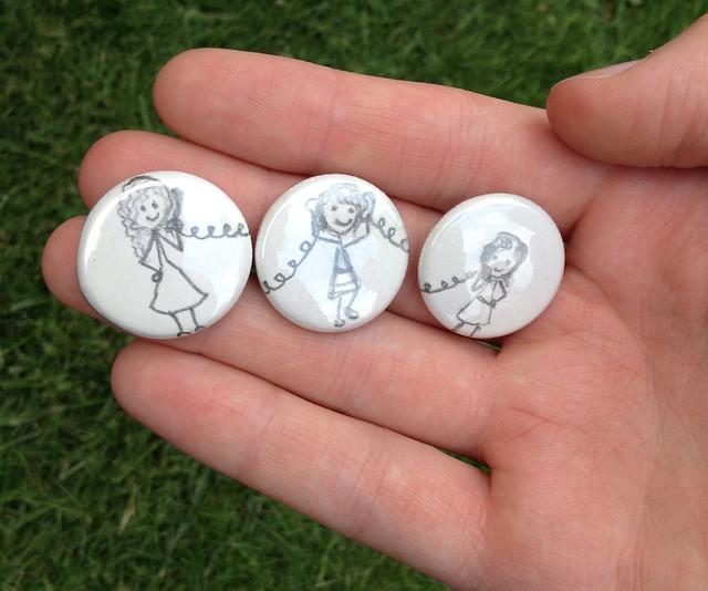 custom made buttons at NaDa Farm