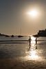 Donostia, niños en la playa