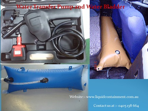 Water Transfer Pump and Water Bladder