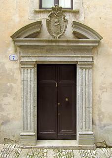 A classical doorway, Erice, Sicily