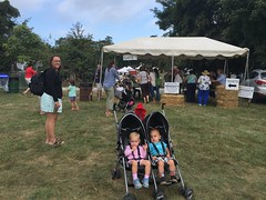 Arriving with the twins at the Bluemont Fair
