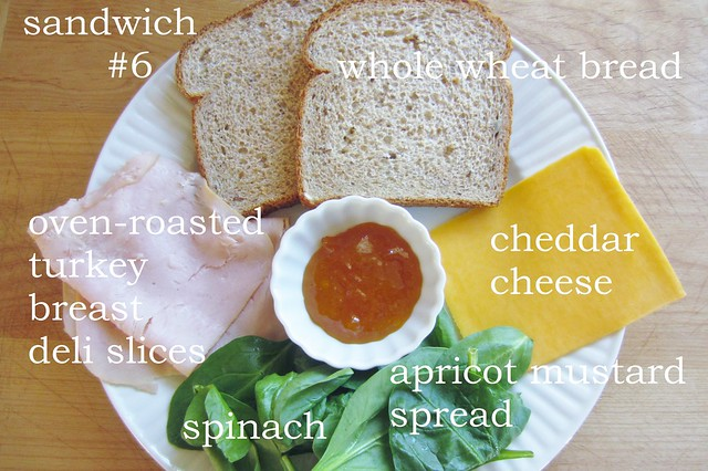 apricot turkey + cheese sandwich