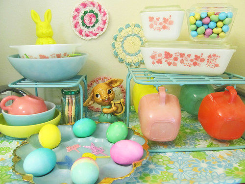 Easter on my tea cart :)