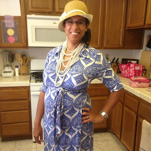 #wiws Happy #Easter! Dress: Banana Republic; Hat and Necklace: Homecoming Trunk Shows