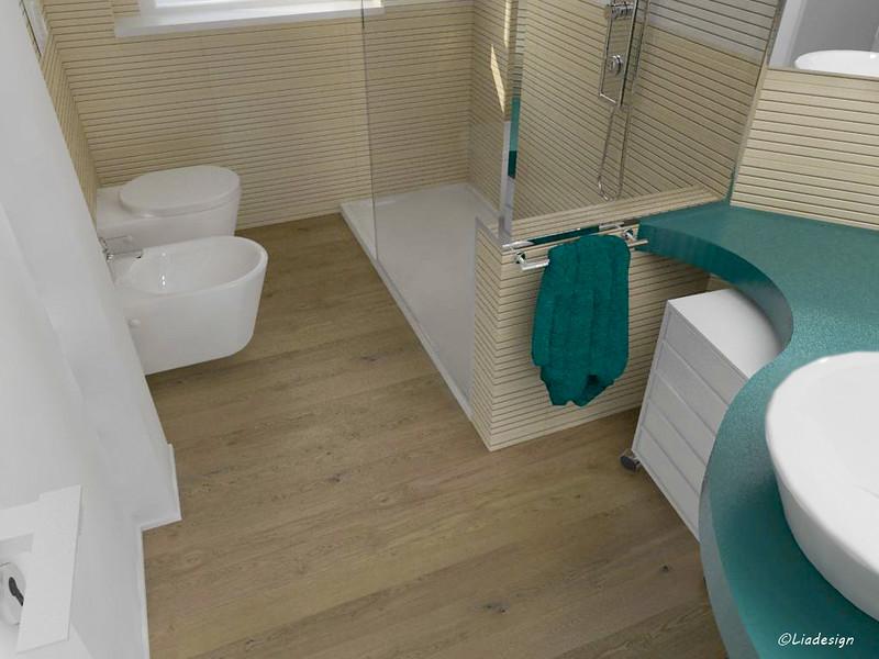 Parquet in bagno e rivestimenti pareti mammeonline - Bagno in parquet ...
