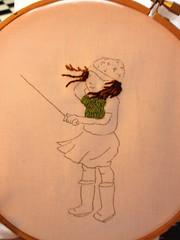 March Girl Flying Kite