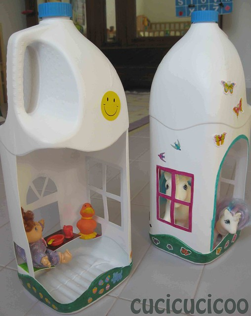upcycled plastic bottle play houses