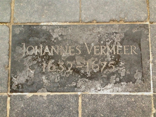 Old Church Delft - Vermeer's burial plaque