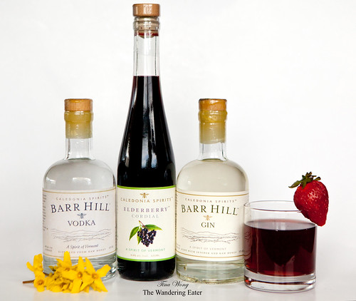 Caledonia Spirits: Barr Hill Vodka, Elderberry Cordial, Barr Hill Gin