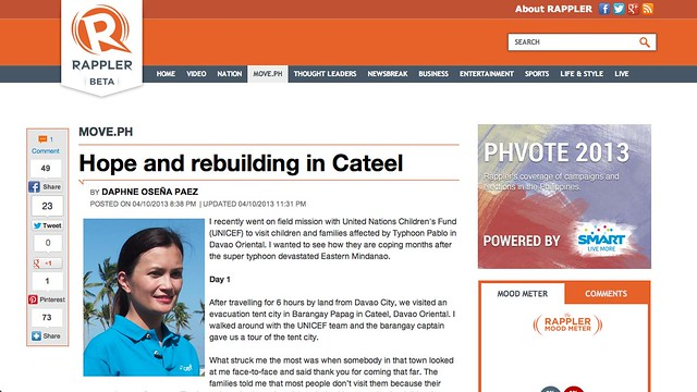Rappler - UNICEF in Davao Oriental 2013