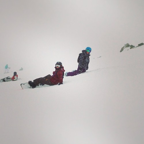 This was me and my family on the slope down from the highest chair lift in North America last week! #snow #snowboarding