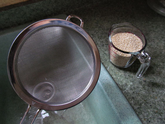 Best. Quinoa. Strainer. Ever.