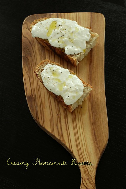 Creamy Homemade Ricotta title pic