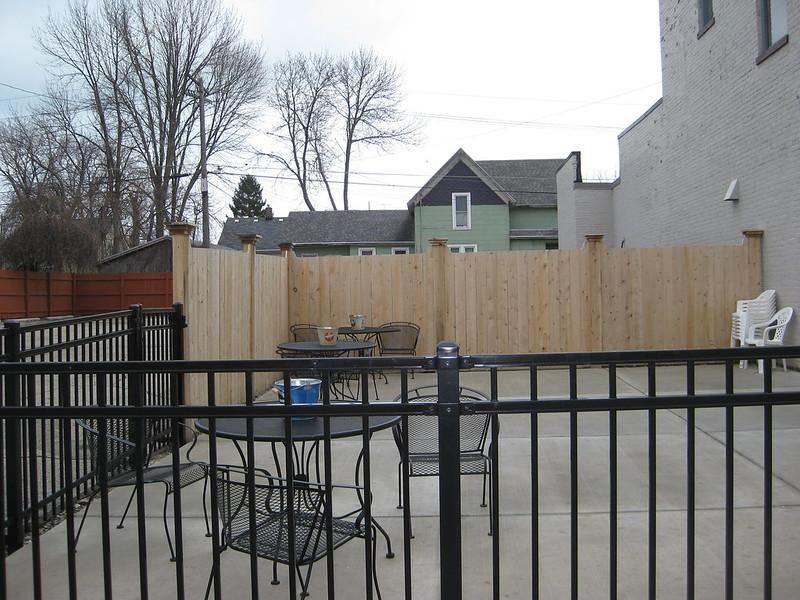 Commercial Wood Fence Yutka Fence Kenosha Wi