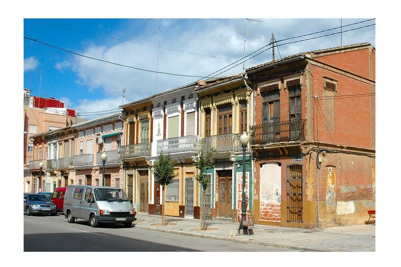 Neighbourhood of El Cabanyal-Canyamelar in Valencia, SPAIN