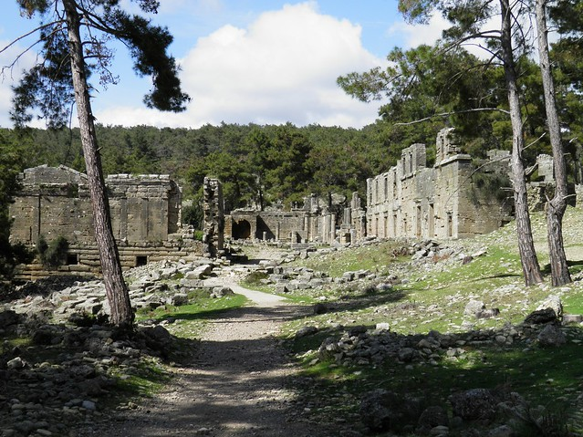 General view of the Agora, Seleukeia (Lyrbe), Pamphylia, Turkey