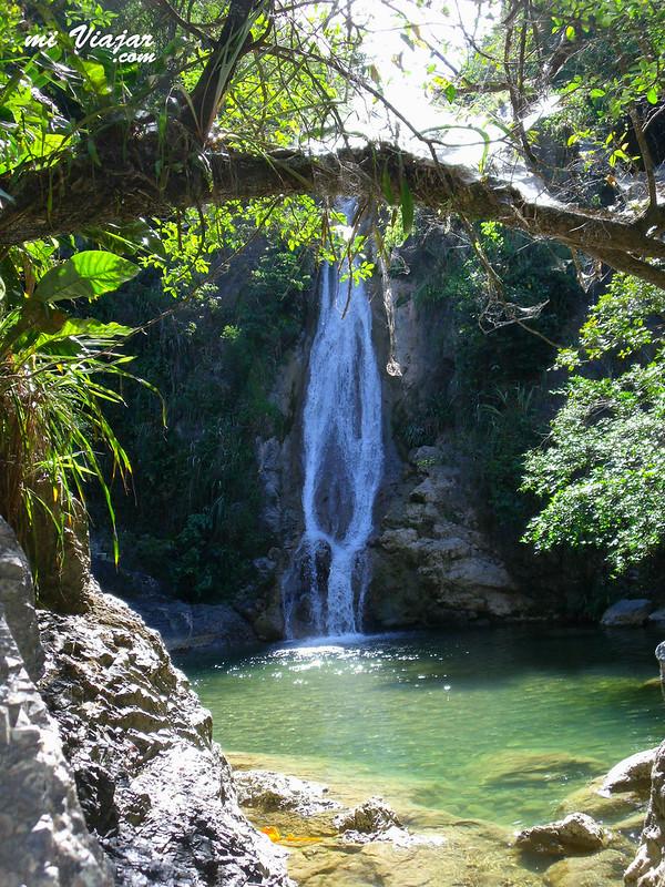 Una de las cascadas de chíchala en el Tolima