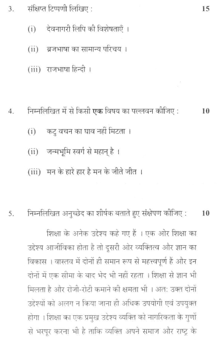 DU SOL B.A. Programme Question Paper - Hindi B - Paper IX