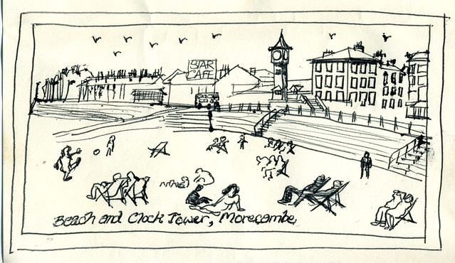 1967: Clock Tower and Beach, Morecambe