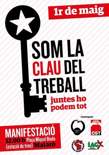 cartell 1 Maig 2013 Mataró CGT