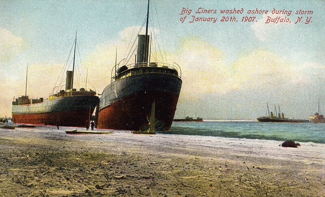 Big Liners Washed Ashore During Storm of January 20th 1907