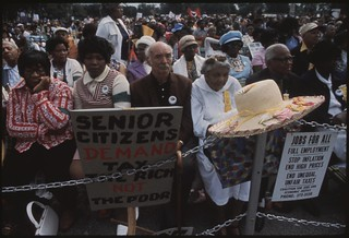 A Senior Citizens' March to Protest Inflation, 10/1973