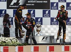 Celebration Time. The Winner Vettel.