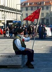 Communist demonstrator