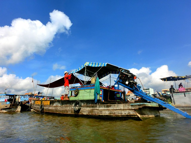 Visit Vietnam for the floating market in the Mekong Delta, Vietnam