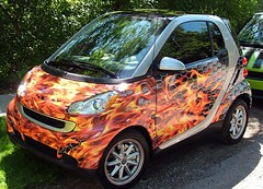flaming flames smart car displayimage