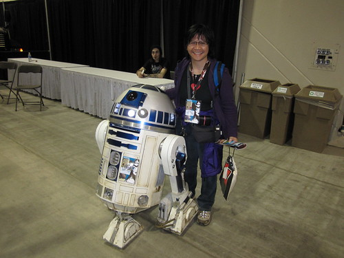 Posing with R2-D2