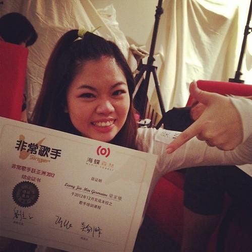 V singer Graduation