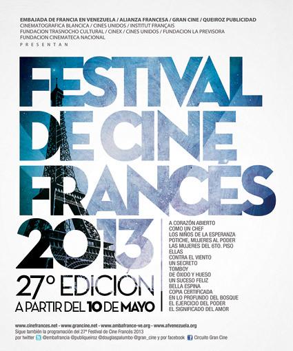 Afiche Festival de Cine Francés