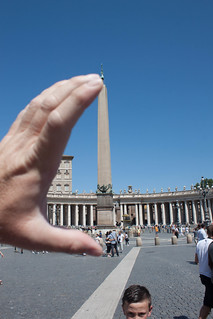 Holding the obilisk in my hand at the Vatican