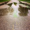 Puddles #rain #street #storm #road #reflection