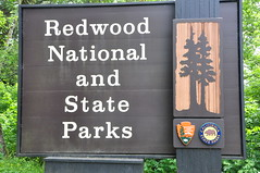 Redwood National and State Park Sign