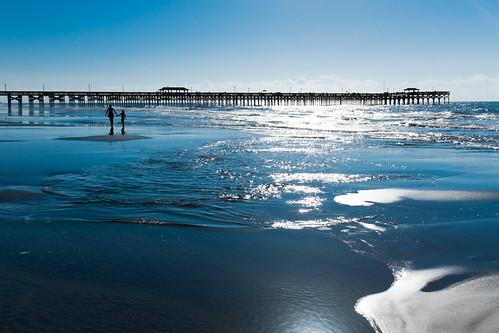 ocean beach pier sand atlanticocean myrtylebeachsc