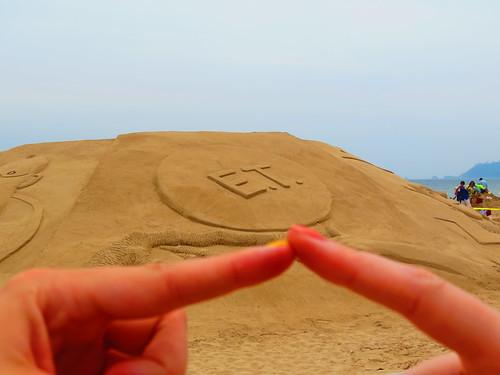 ET Sand sculpture