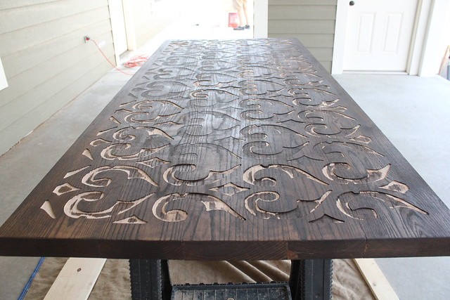 Custom Wood And Concrete Table Top Kara Paslay Design