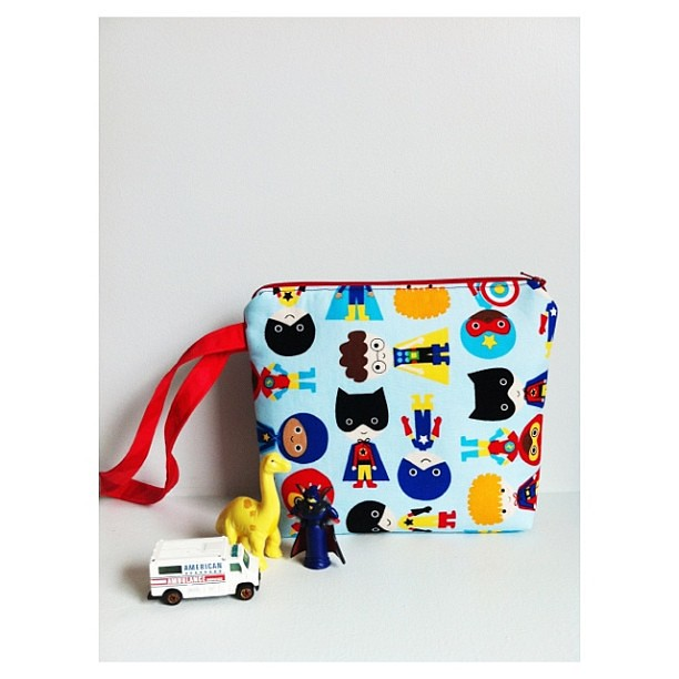 Super Kid Toy Tote/Diaper Clutch | 8x9.5 inches | $28 | TWO available