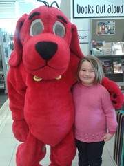 Clifford the Big Red Dog with Georgia