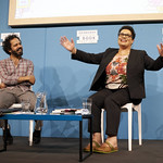 Zaffar Kunial with Jackie Kay | Zaffar Kunial and Jackie Kay discuss what it means to be a British writer of mixed heritage in the 21st century © Helen Jones