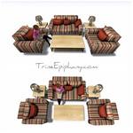 Reds Sofa Set 3D Models